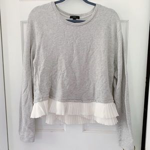 J. Crew Sweatshirt with Asymmetrical Ruffle Hem